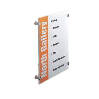 Tabliczka informacyjna Crystal Sign. Durable