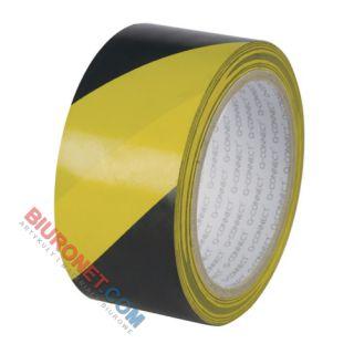 Taśma ostrzegawcza Q-Connect 48 mm x 20 m, samoprzylepna czarno - żółta