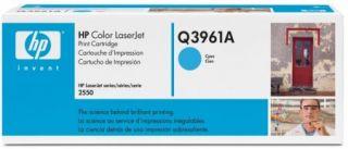 Toner HP Color LaserJet Q3961A cyan.