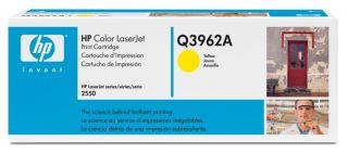 Toner HP Color LaserJet Q3962A yellow.