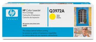 Toner HP Color LaserJet Q3972A yellow.