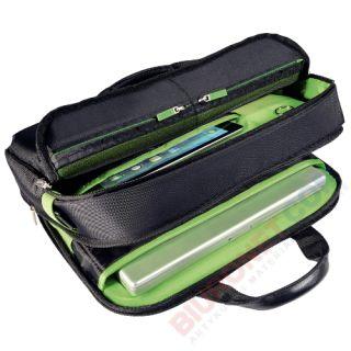 Torba na laptop Leitz Complete, czarna z zielonymi wykończeniami