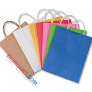 Torebka na prezenty, papierowa z uchwytem, mix kolorów