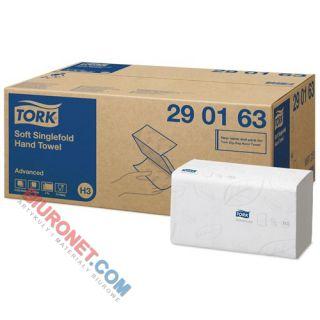 Tork ZZ Advanced, ręczniki papierowe składane typu Z, do dozowników [2-warstwowe, białe, celulozowe]