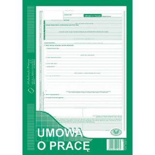 Umowa o Pracę A4, 40 kartek, samokopiujący druk Michalczyk i Prokop 500-1N
