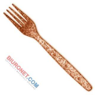 Widelce biodegradowalne Biotrem, wykonane z otrąb pszennych i PLA