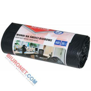Worki na odpady Office Products Mocne LDPE, wiązane, czarne