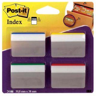 Zakładki do archiwizacji Post-it 38 x 50,8 mm, do szuflad, 4 x 6 sztuk