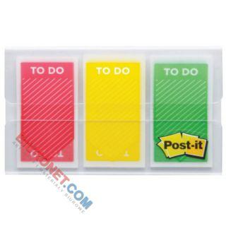 Zakładki indeksujące Post-it z napisem TO DO, 100 sztuk, foliowe strzałki 25 x 43 mm