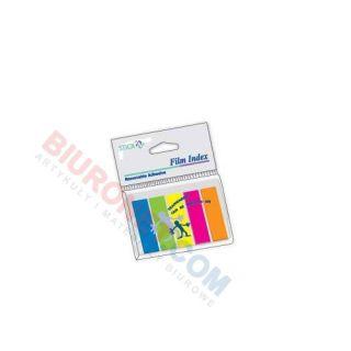 Zakładki indeksujące Stick'n 12x45 mm, foliowe paski, 5 kolorów x 25 sztuk