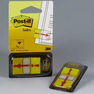Zakładki z nadrukiem Post-it, 50 sztuk, foliowe, 25 x 43 mm