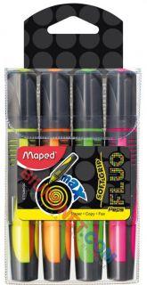 Zakreślacz fluorescencyjny Maped Fluo'Peps Max, zestaw 4 kolorów