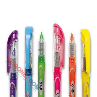 Zakreślacz fluorescencyjny Pentel SL12, z płynnym tuszem, linia 4 mm