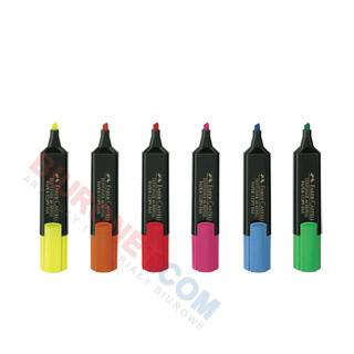 Zakreślacze Faber Castell, zestaw kolorów w etui