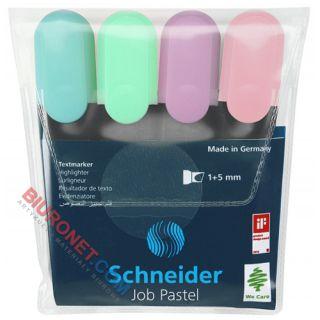 Zakreślacze Schneider JOB, zestaw kolorów pastelowych, w etui
