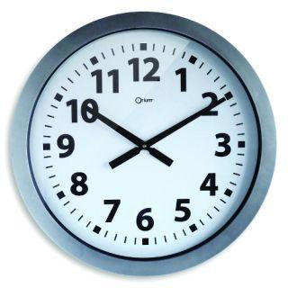 Zegar CEP Giant, ścienny, kolor srebrny
