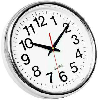 Zegar ścienny BUDAPEST Q-Connect, kolor srebrny