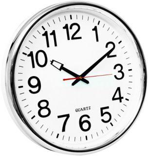 Zegar ścienny Q-Connect Warsaw, kolor srebrny