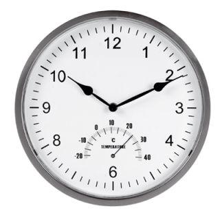 Zegar ścienny Tempus Unilux, z termometrem