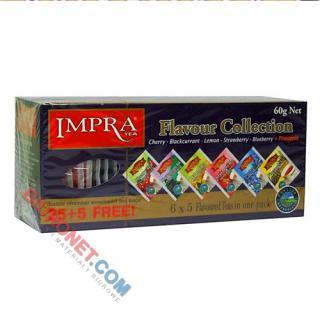 Zestaw herbat IMPRA Flavour Collection, czarnych aromatyzowanych, w kopertach