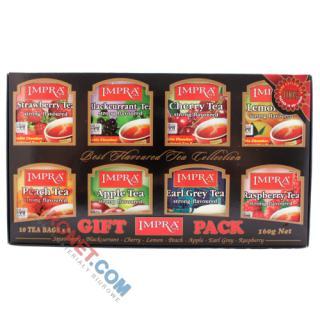 Zestaw herbat IMPRA Gift Pack Black, czarnych aromatyzowanych, w kopertach