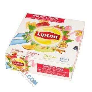 Zestaw herbat Lipton Feel Good Selection Variety Pack, 12 smaków, torebki w kopertach 180 torebek