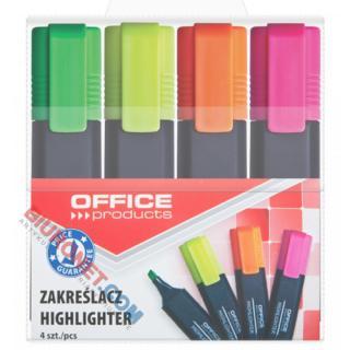 Zestaw zakreślaczy fluorescencyjnych Office Products, szerokość linii 1-5mm