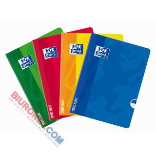 Zeszyt szkolny Oxford Soft Touch A5, w linie, aksamitna oprawa miękka 60 kartek