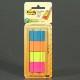 Znaczniki samoprzylepne 25,4 x 38 mm, 4 bloczki w neonowych kolorach.3M