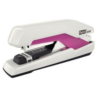 Zszywacz Rapid Supreme Omnipress SO60, z długim magazynkiem, do 60 kartek biało-różowy