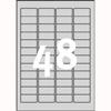 Etykiety znamionowe AVERY Zweckform, srebrne, poliestrowe, 20 arkuszy A4