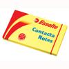 Karteczki samoprzylepne Esselte Contacta, bloczek 100 kartek, kolor żółty