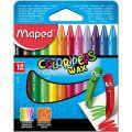 Kredki świecowe Maped Color'Peps Wax, trójkątne