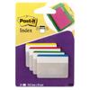 Zakładki do archiwizacji Post-it 38 x 50,8 mm, 4 kolory po 6 sztuk proste