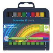 Cienkopis Schneider Link-It, zestaw w stojaku, końcówka 0.4 ...