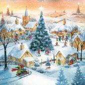 Serwetki ozdobne Gwiazdka, z motywem Christmas Tree in Town,...